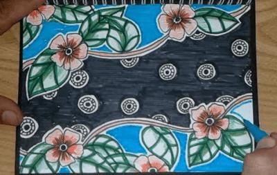 Cara Menggambar Batik Bunga Yang Mudah