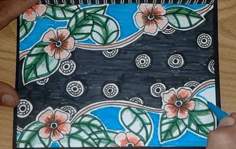 Ilustrasi Cara Menggambar Batik Bunga Yang Mudah