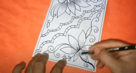 Gambar Cara Menggambar Batik Di Buku Gambar Yang Mudah